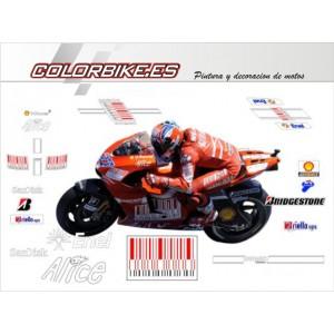 Kit Ducati MotoGP bar code 2009