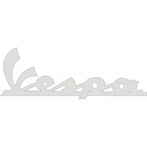 Pegatina vespa nuevo logo
