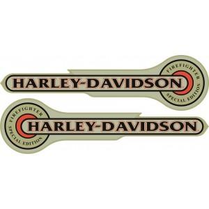 2x Pegatina logo Harley Firefighter