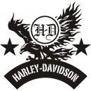 Pegatina logo Harley Aguila 2