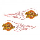 2x Pegatina logo Harley tribal