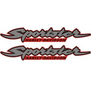 2x Pegatina logo Harley Sportster
