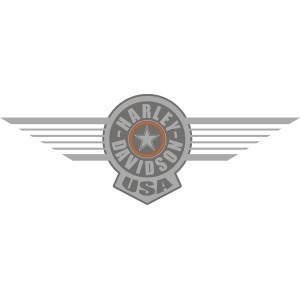 2x Pegatinas Harley USA