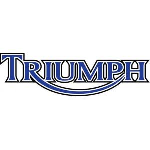 2x Pegatinas logo Triumph perfil