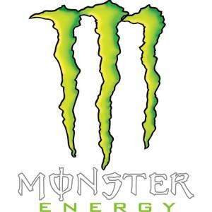 | Pegatina garras monster energy , varios colores disponibles