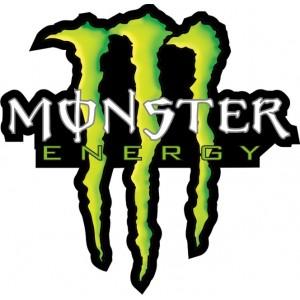 garras monster energy fondo negro , varios colores disponibles - L