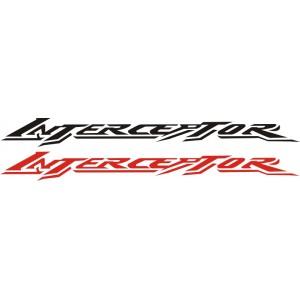 2x Pegatinas Honda Interceptor