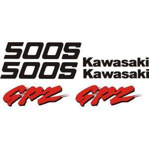 KIT Pegatinas Kawasaki GPZ 500