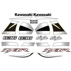 KIT Pegatinas Kawasaki ZX636 2002