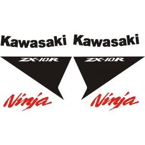 KIT Pegatinas Kawasaki ZX10R Blanca