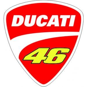 2x Logo Escudo Ducati 46 GEL
