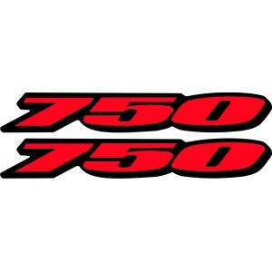 2x Pegatinas logo 750 nuevas