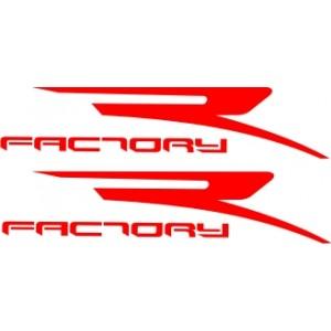 2x Pegatinas logo R Factory