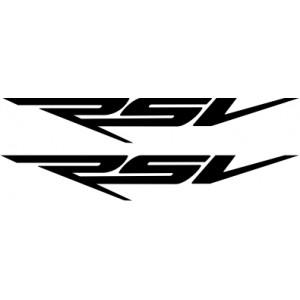 2x Pegatinas logo RSV