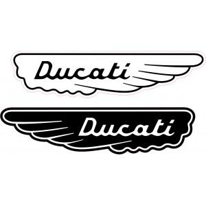 2x Pegatinas Ducati alas vintage