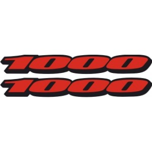 2x Pegatinas logo 1000
