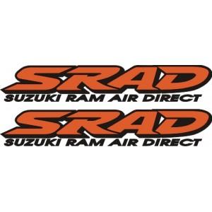 2x Pegatinas logo SRAD