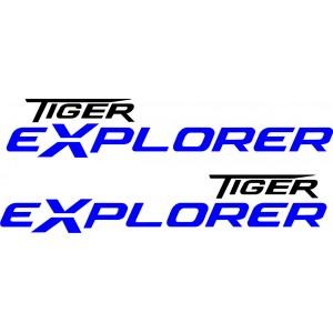2x Pegatinas triumph tiger Explorer