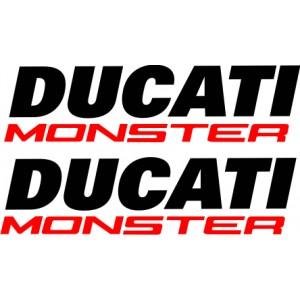 2x Pegatinas Ducati Monster deposito