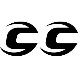 2x Pegatina logo cannondale