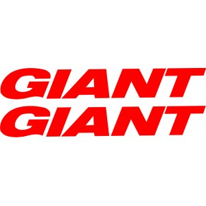 2x Pegatinas Logo Giant