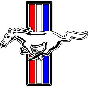 pegatina logo mustang
