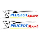 2x Pegatinas Peugeot Sport