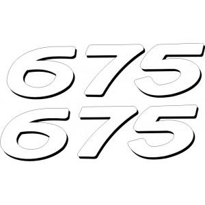 2x Pegatina Daytona 675 colin Antigua