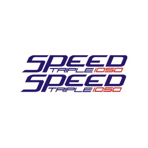 2x Pegatinas Speed triple 1050