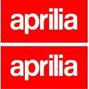 2x Pegatinas logo Aprilia deposito
