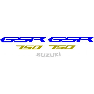 2x Pegatinas GSR 750 2011-