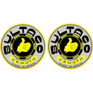 2x Diapasones Bultaco GEL Gris