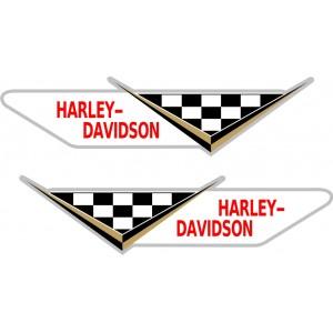 2x Pegatina Harley bandera