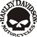 Pegatina Harley Davidson calavera