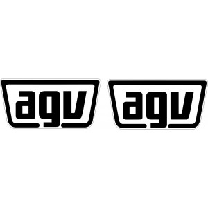 2x Pegatinas Logo AGV laterales