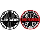 Pegatina Harley Davidson redonda