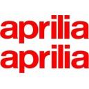 2x Pegatinas logo Aprilia Grandes