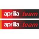 2x Pegatina Aprilia Team