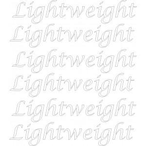 Pegatinas llantas Lightweight