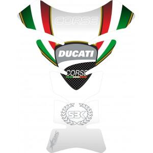 Protector deposito Ducati Corse White