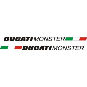 2x Pegatinas Ducati Monster