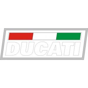 2x pegatinas Logo ducati cuadrado